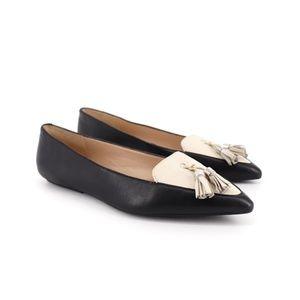Karl Lagerfeld Vanna Leather Tassel Loafer Flats 9